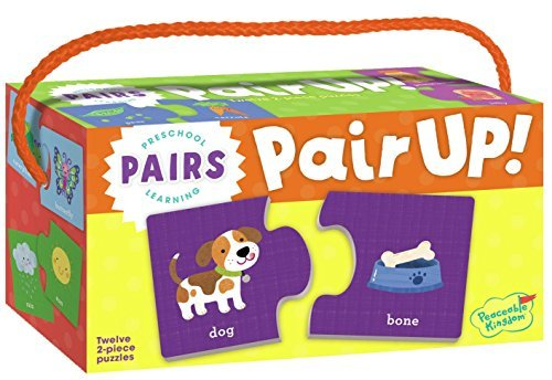 Peaceable Kingdom Preschool Learning Pair Up! Pairs Matching Puzzles
