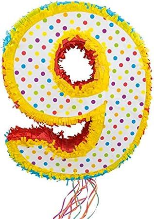 Amazon.com: Folat 60949 Pinata Number 9-49 cm, Multi Colours ...