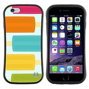 "Hypernova Slim Fit Dual Barniz Protector Caso Case Funda Para Apple (5.5 inches!!!) iPhone 6 Plus / 6S Plus ( 5.5 ) [Pastel comida bastante Colores dulce""]"