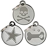 Playful, Custom Engraved Pet ID Tags. Solid Stainless Steel. Personalized Dog & Cat Pet Identification. Durable & Long Lasting Personalized Pet ID.