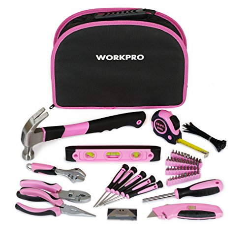 WORKPRO 103-Piece Pink Tool Kit with Easy Carrying Round (Pink Tool Set)