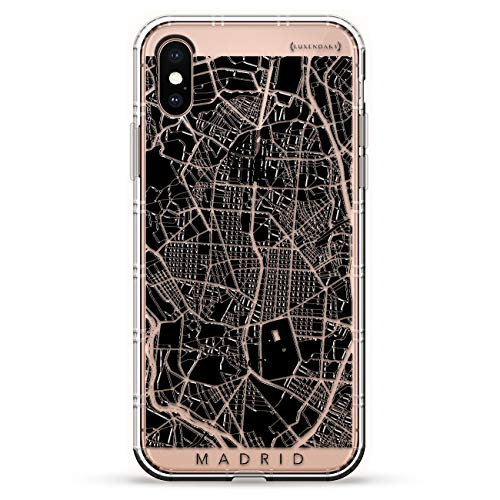 Amazon.com: Madrid Streets Map | Luxendary Air Series Clear Silicone Case with 3D Printed Design and Air-Pocket Cushion Bumper for iPhone X/Xs: Cell Phones ...