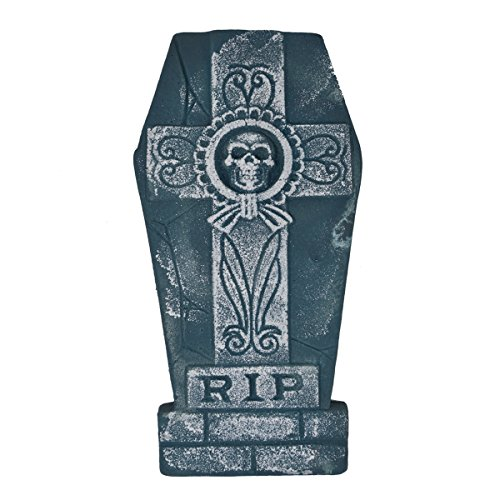 Pack of 5 Halloween 16î Foam RIP Graveyard Tombstone Halloween Decorations with Different style With Bonus Stands