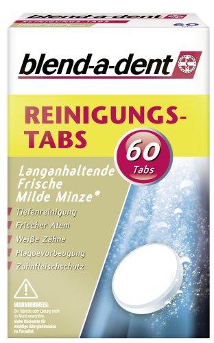 Blend-a-dent Reinigungs-Tabs Langanhaltende Frische, milde Minze, 2er Pack (2 x 60 Stück)
