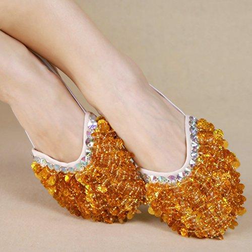 Calcifer® marca nueva egipcio Egipto zapatos de danza del vientre disfraz regalo para gran fiesta Navidad dorado