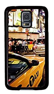 Rugged Samsung Galaxy S5 Case and Cover - New York Custom Design PC Case Cover for Samsung Galaxy S5 - Black