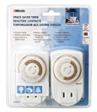 Coleman Cable 50006 6 Pack Indoor 24-Hour Mechanical Space Saver Timer, 2 Pieces Per Pack