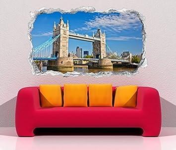 3d Wandtattoo Durchbruch Skyline Tower Bridge Brucke London England