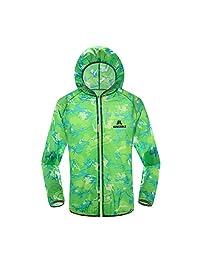 Ophelia Outdoor Women Long-sleeved Windproof and Waterproof Cycling Clothing Uv Sunscreen Skin Rain Coat