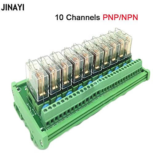 - Gimax 16/12/10/8/6/4 /2 Channels DC 24V 16A PNP NPN Relay Module PLC Terminals DIN Rail Mounting Adapter Connector - (Color: 8 channels)
