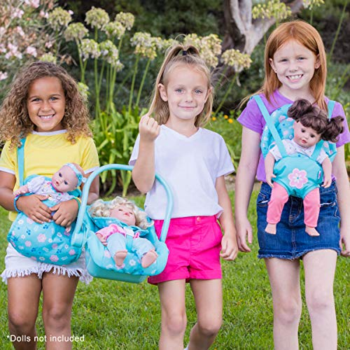 Adora Baby Doll Carrier - Flower Power Baby Snuggle Carrier, Perfect Doll Accessory That Fits Dolls Up to 20 inches