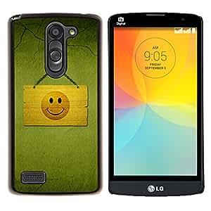 Caucho caso de Shell duro de la cubierta de accesorios de protección BY RAYDREAMMM - LG L Bello L Prime - Hapy Smiley Área