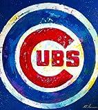 Al Sorenson Art Cubs Logo Canvas 18X24 Picture