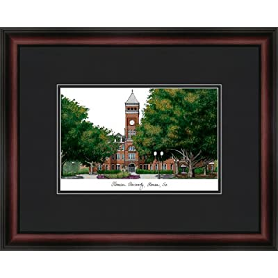 Image of Artwork Campus Images NCAA Clemson Tigers Academic Framed Lithograph