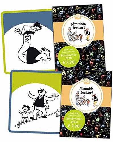 Vater und Sohn - Mmmhh, lecker (Bundle): Mini-Buch in Farbe plus Frühstücksbrettchen