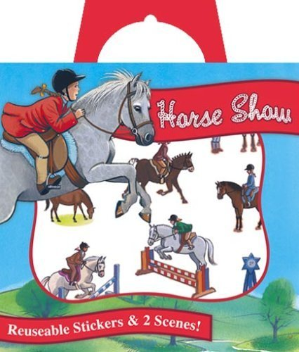 Peaceable Kingdom Horse Show Reusable Sticker Tote