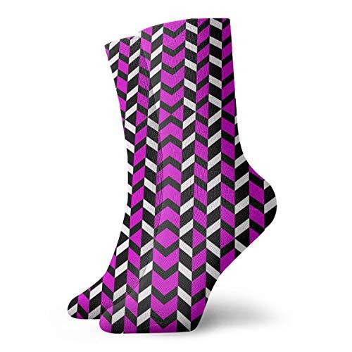 HUSJHD Interesting Socks Hot Magenta Chevron Giftwrap (8209) Women Girl Novelty]()