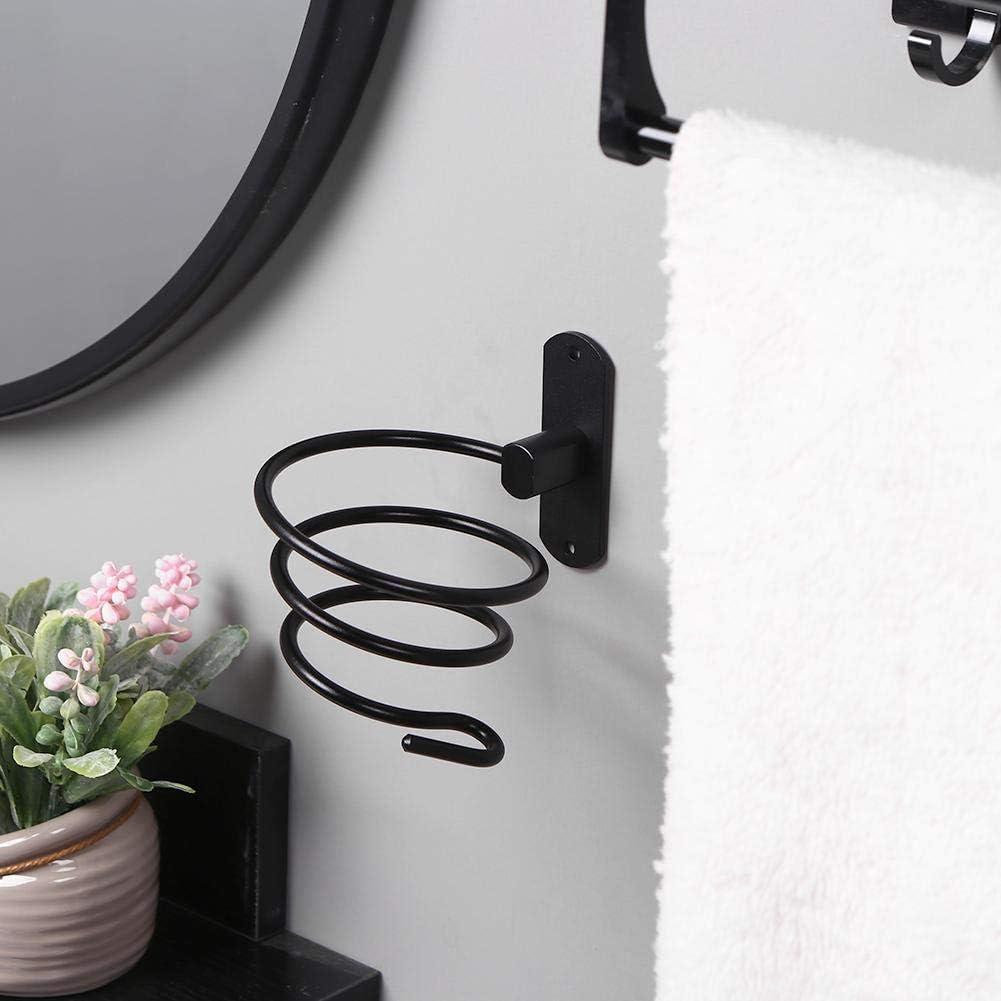 Gold akaddy Hair Dryer Holder Blower Bracket Hanging Bathroom Accessories