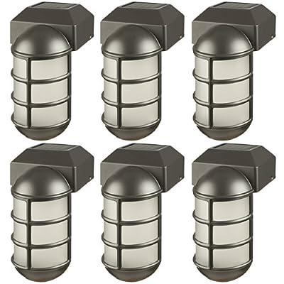 Paradise GL23877BK Solar Cast Aluminum LED Post Cap Light (Black, 6 Pack)