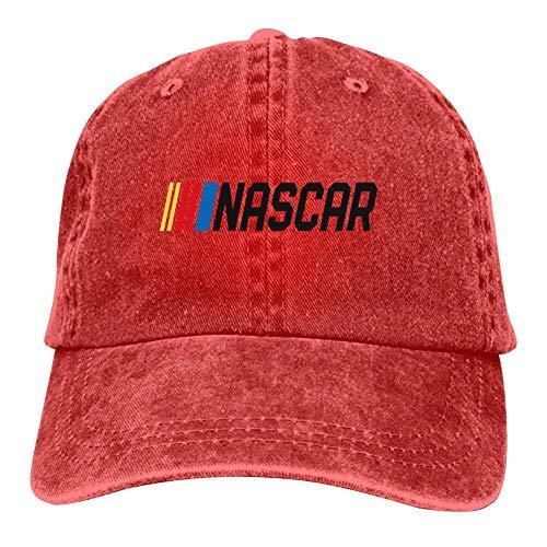 (BEKAI Unisex Cowboy Cap   Nascar Car Racing Logo Adjustable Baseball Sport/Sun/Trucker/Dad Peaked Hat Snapback Cap Red)