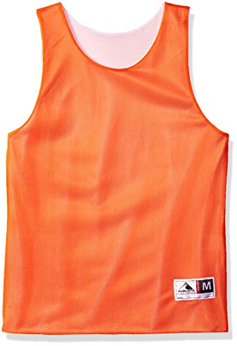 - Augusta Sportswear Teen-Boys Youth Reversible Mini Mesh League Tank, Orange/White, Small