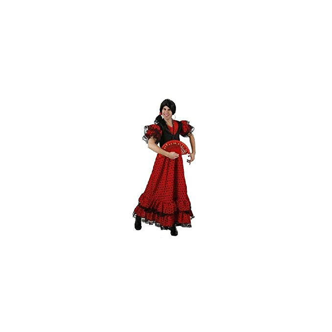 Atosa-95456 Disfraz Flamenca, Color Rojo, M-L (95456): Amazon.es ...