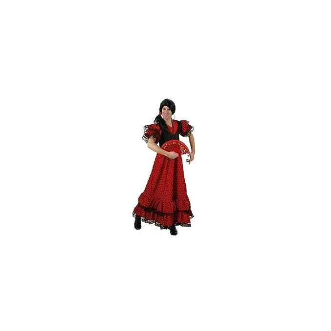95456 Atosa-95456 Disfraz Flamenca Color Rojo M-L