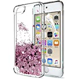 iPod Touch 6 Case, iPod Touch 5 Liquid Case with HD Screen Protector for Girls,LeYi Shiny Glitter Quicksand Clear TPU Protective Phone Case for Apple iPod Touch 6th / 5th Generation ZX Rose Gold