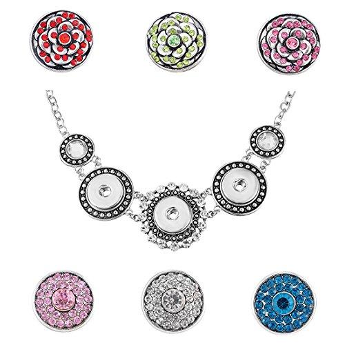 Antique Button Necklace - 6