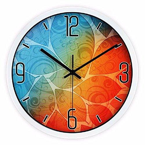 LQXZM-12-Inch Wall Clock Creative Fashion Mute Abstract Decorative Clocks Art Living Room Metal Quartz Clocka