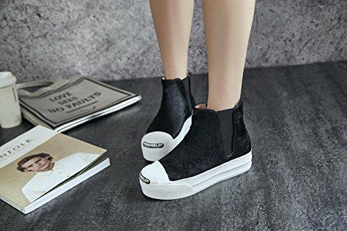 rotonde rotonde NSXZ NSXZ NSXZ BLACK pesante elastico comodi donne colore 35 fondo periodo di 39 delle stivali stivaletti HqpHXR