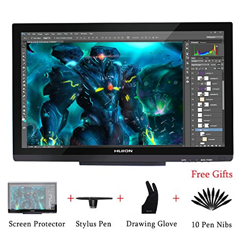 Huion GT-220 V2 Black Graphics Drawing Monitor with 8192 Pen Pressure 21.5...