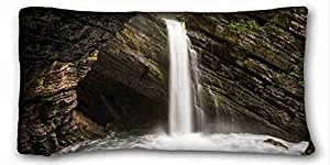 Custom Nature Custom Cotton & Polyester Soft Rectangle Pillow Case Cover 20x36 inches (One Side) suitable for California King-bed