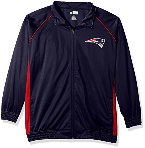 - NFL New England Patriots Women POLY TRICOT TRACK JACKET, NAVY/RED, 4X