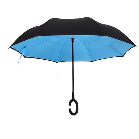 Paraguas de la reversión, paraguas innovador del Windproof de Coopache, paraguas del ambiente de