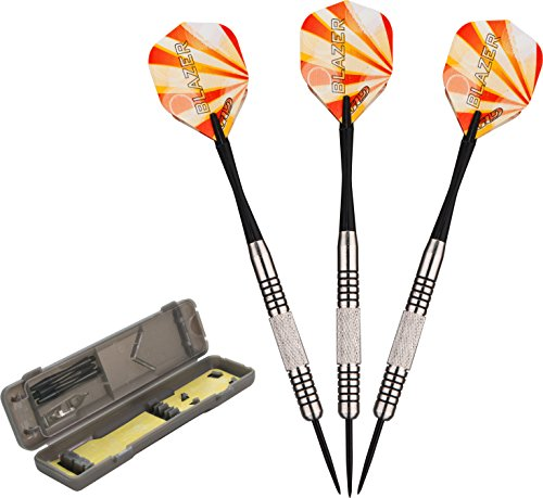 Fat Cat Blazer Steel Tip Darts with Storage/Travel Case, 23 Grams by 5Star-TD