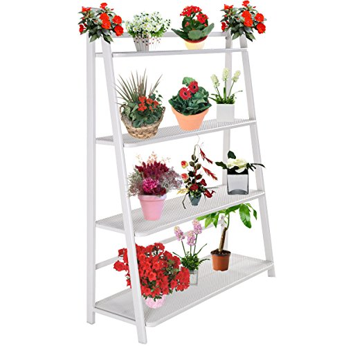 NEW Heavy Duty Mesh Plant Flower Stand Shelves Pot Display