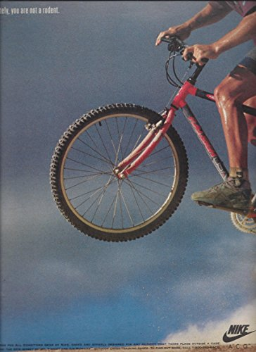 MAGAZINE ADVERTISEMENT For 1992 Nike Bicycle & Rodent On Wheel (Bicycle Advertisement Poster)
