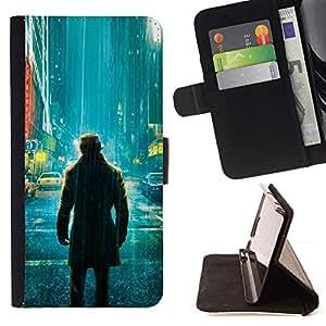 Momo Phone Case / Flip Funda de Cuero Case Cover - Comic vigilante solitario;;;;;;;; - Samsung Galaxy Note 3 III