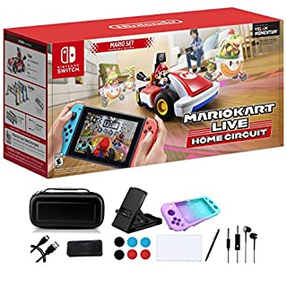 Nintendo 2020 Newest - Mario Kart Live: Home Circuit - Mario Set Edition - Holiday Family Gaming Bundle for Nintendo Switch or Switch Lite - RED - iPuzzle 9-in-1 Carrying Case for Nintendo Switch Lite