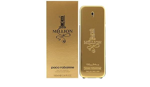 PACO RABANNE 1 MILLION DE hombre DE piel DE diseño DE Sally Moret alcachofa DE agua DE perfume placa para puerta 100 ml: Amazon.es: Belleza
