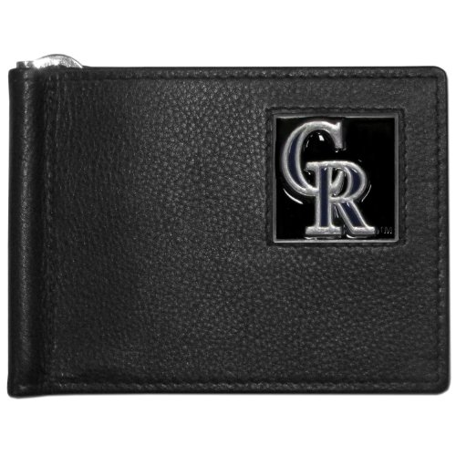 MLB Colorado Rockies Leather Bill Clip Wallet ()