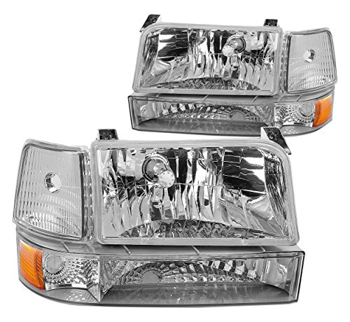 DNA Motoring HL-OH-F15092-6P-CH-AM Headlight Assembly, Driver & Passenger Side