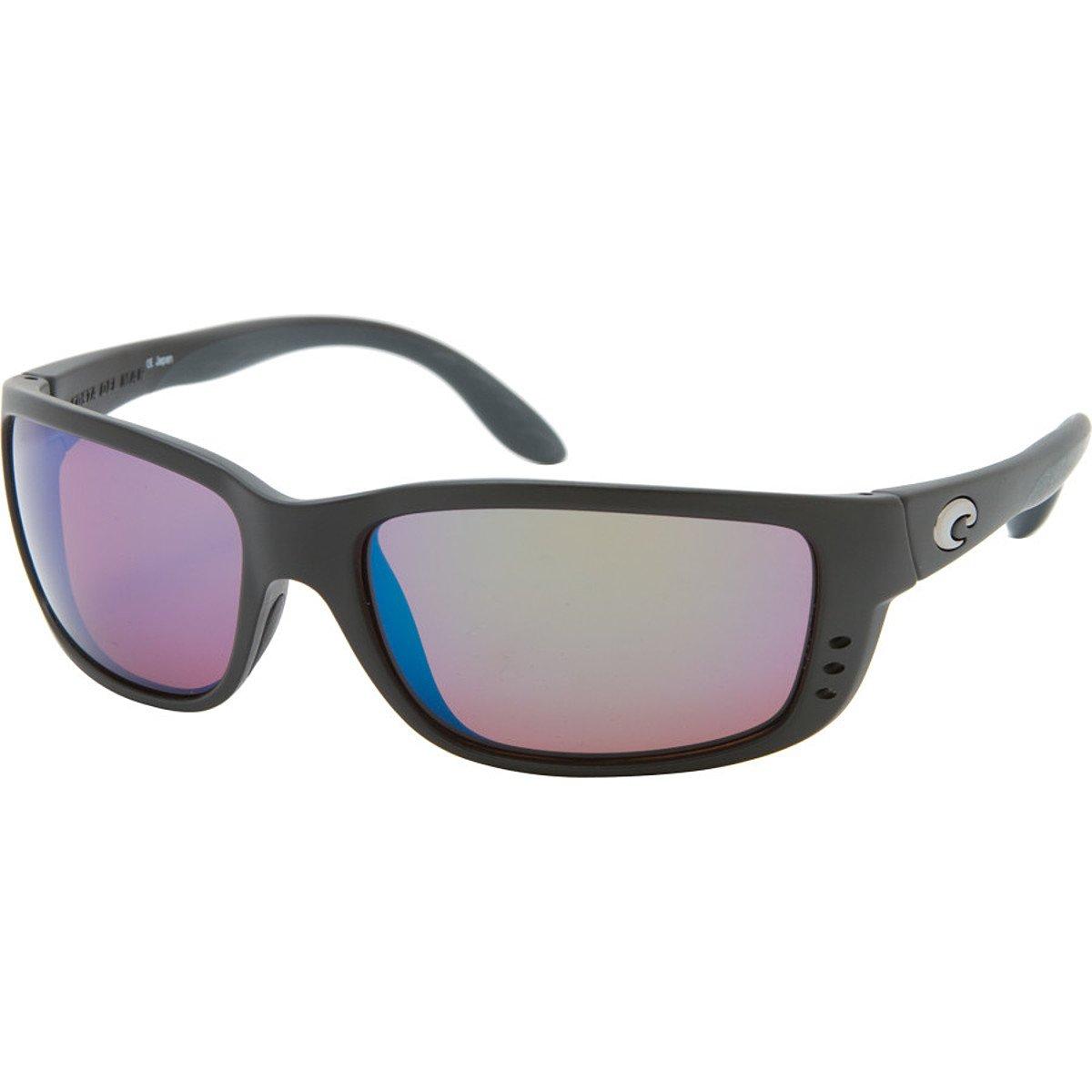 046e5d7b2bb60 Costa Del Mar Zane Sunglasses ZN 11 OGMGLP Black Green Mirror 580Glass   Amazon.in  Sports