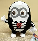 "Hard to Find Unique Despicable Me 6"" Plush Halloween Themed Scary Skeleton Minion"