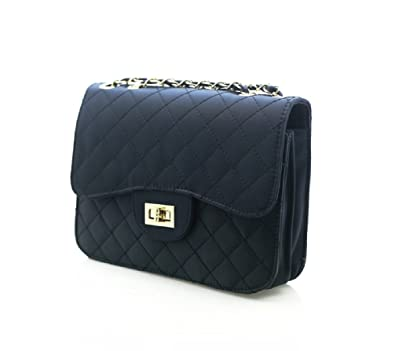 Amazon.com: Ohraina Fabric Quilted Shoulder Bag Embossed Purse ...