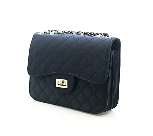 Amazon.com: Ohraina Fabric Quilted Shoulder Bag Embossed Purse ... : quilted shoulder bags - Adamdwight.com