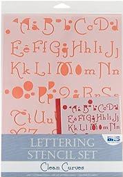 Lettering Stencil 4 Piece Sets-Clean Curves