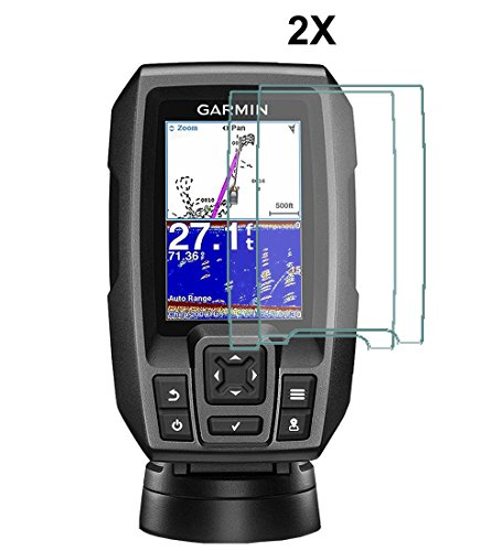 Compatible with GARMIN STRIKER 4 - 4DV - 4CV Fish Finder By IPG 2X Anti Glare Invisible Film Screen Protector Guard Cover Free Lifetime Replacement Warranty Bubble (Ipg Case)