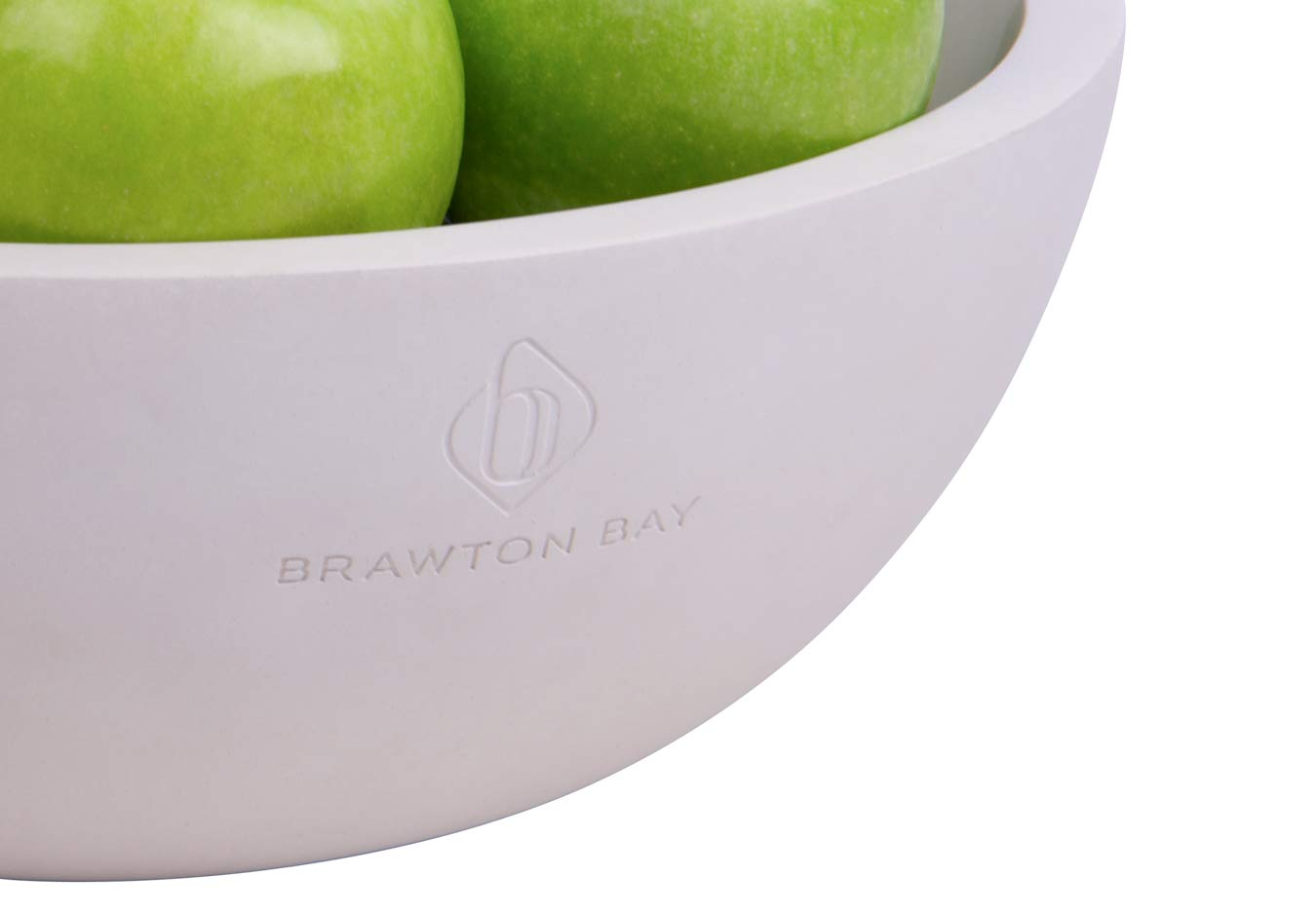 Decorative Fruit Bowl for Kitchen or Dining Room, Concrete, White - Extra Large Food Bowls for Snacks, Candy - Handmade Kitchen Accessories for Tables and Countertops, 12'' Diameter by Brawton Bay (Image #9)